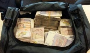 cash in a holdall