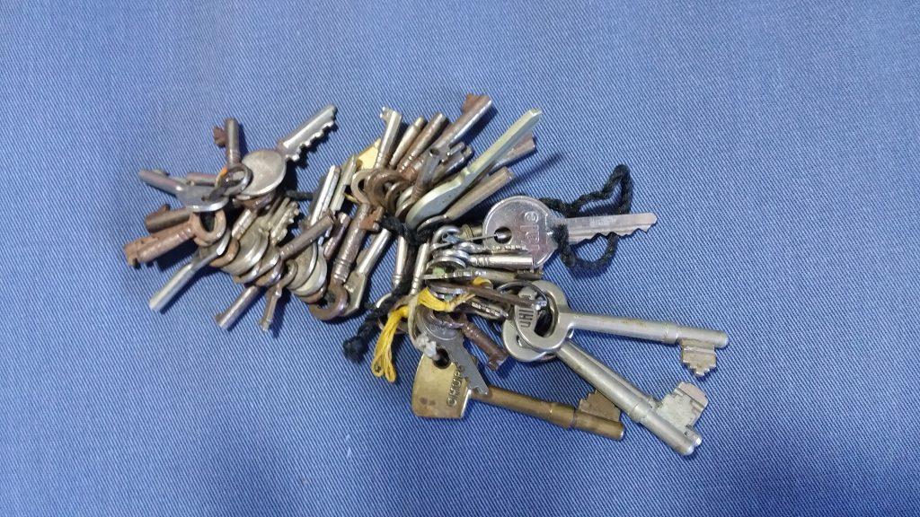 Hoard of unused keys in a dormant things stash