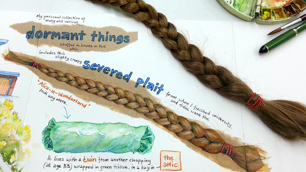 A severed plait: keeping old hair