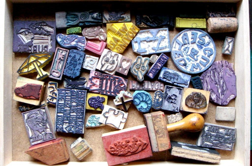 Memories and friendships: a drawer of rubber stamps
