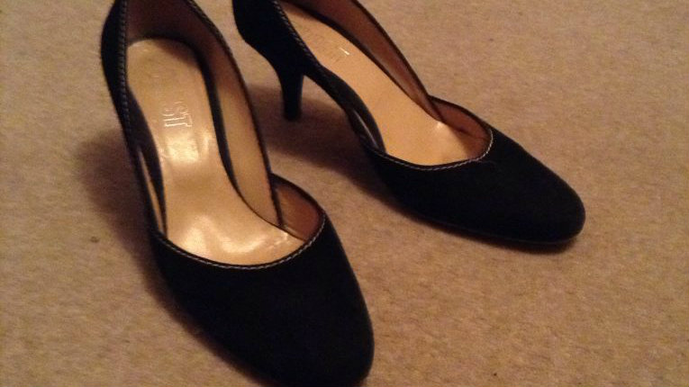 Once worn shoes hidden in wardrobe