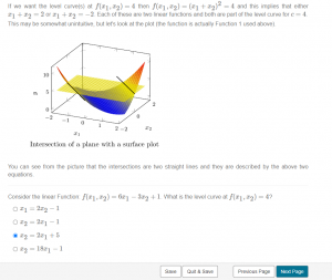 Screenshot of Mobius question