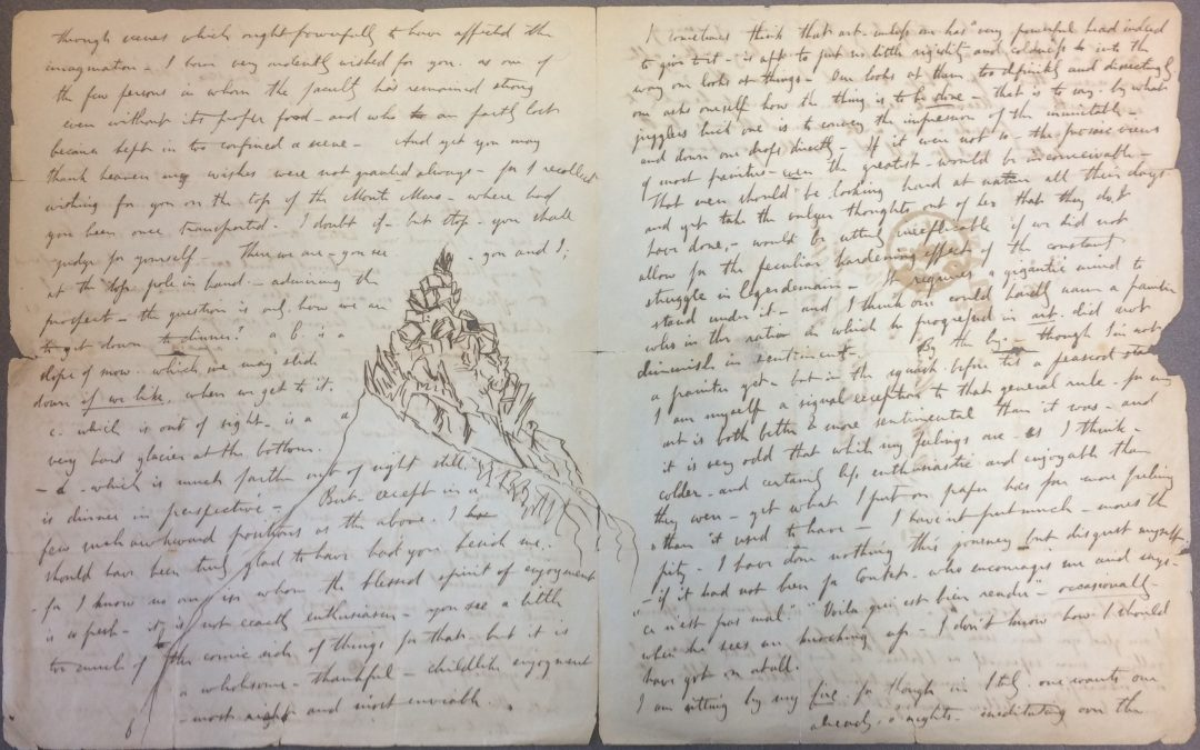 Drawing Letters: Ruskin at the Rylands