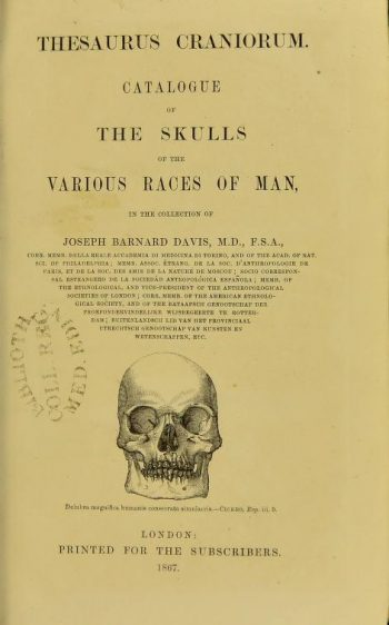 Thesaurus Craniorum 1867
