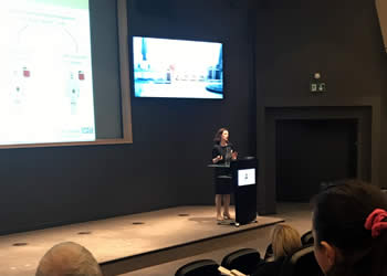 Fiona Thistlethwaite at the Immuno-Oncology One Manchester conference