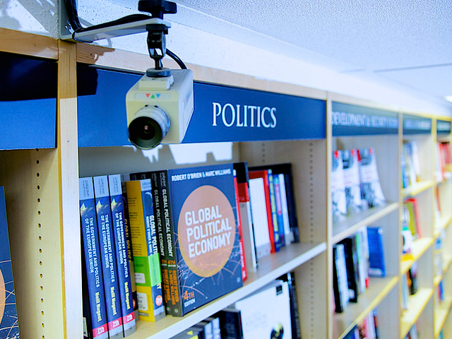 The politics section in a library
