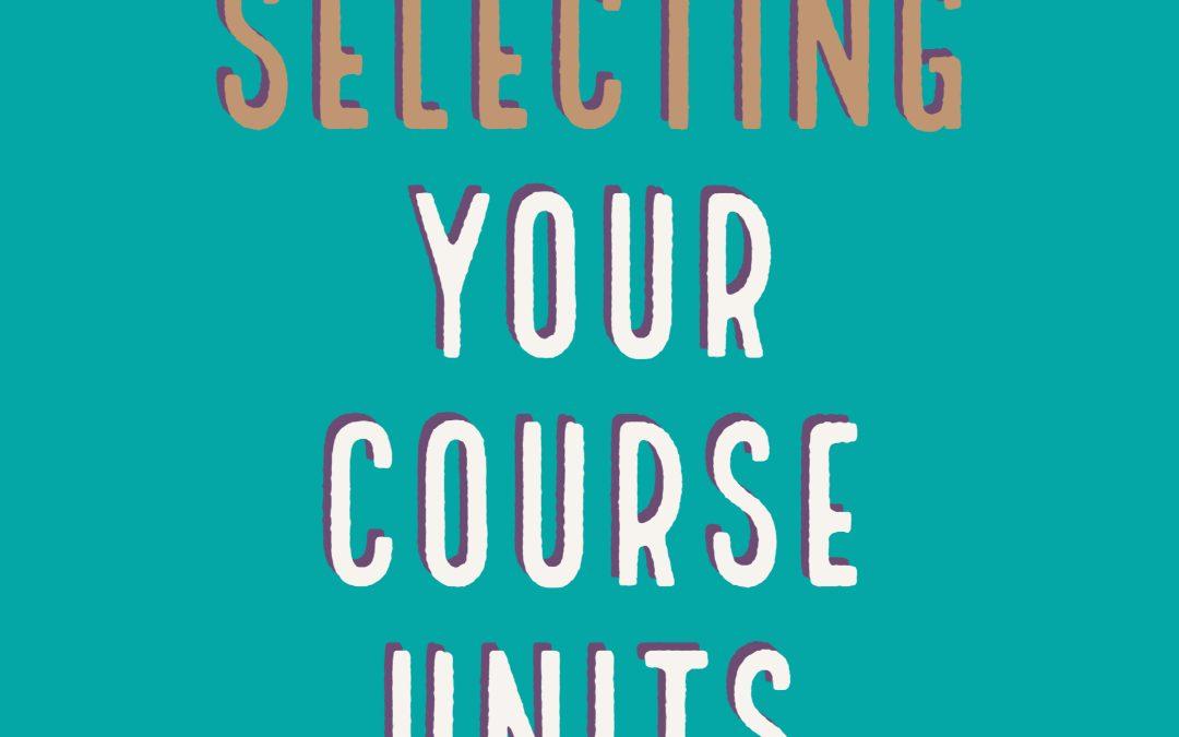 Undergraduate Course Unit Selection