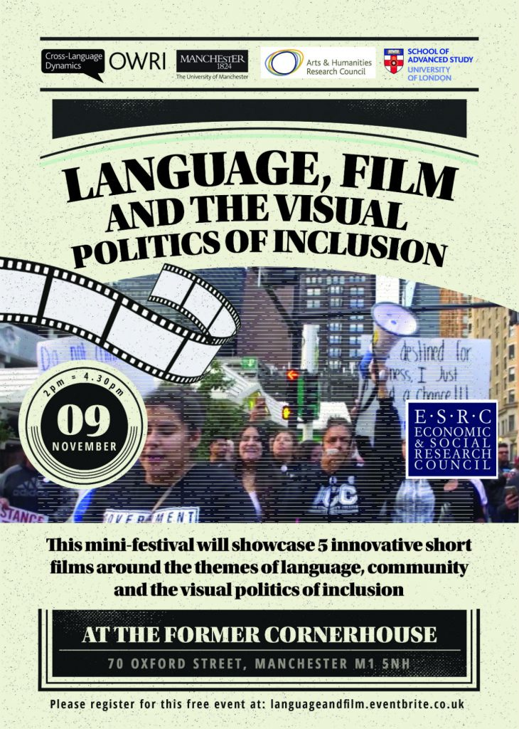 Language, Film and the Visual Politics of Inclusion poster