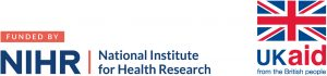 Logo of the National Institute for Health Research with the logo of the UK aid