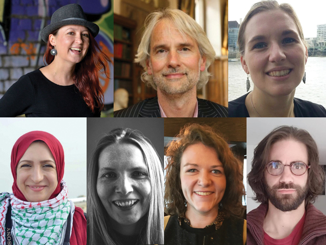 A photograph of the people involved in the Art of Peace project