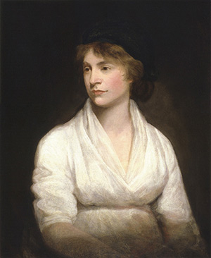Portrait painting of Mary Wollstonecraft by John Opie